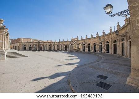 Europe, Italy, Sicily, Ispica open gallery of Santa Maria Maggiore - stock photo