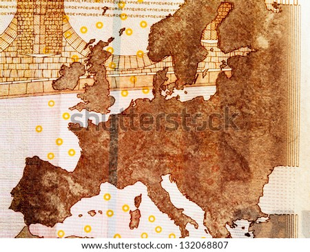 Europe on ten euros - stock photo