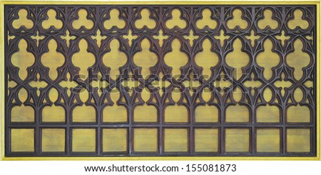 Europe style wood carved. - stock photo