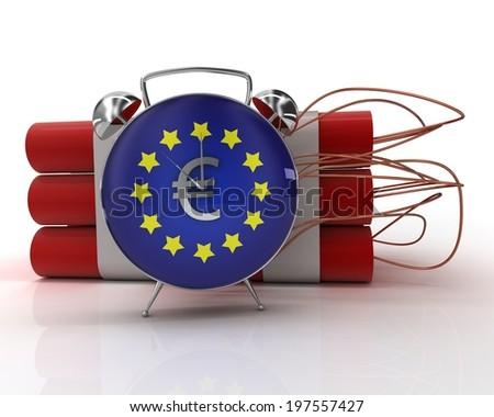 European crisis - stock photo
