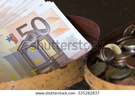 European currency detail - stock photo