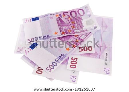 European Currency, 500 euro - stock photo