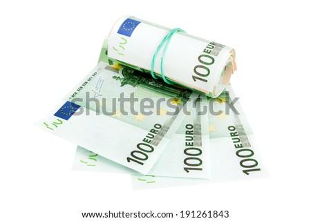 European Currency, 100 euro - stock photo