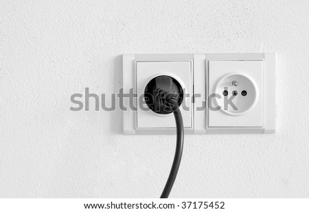 European Electrical Outlet - stock photo