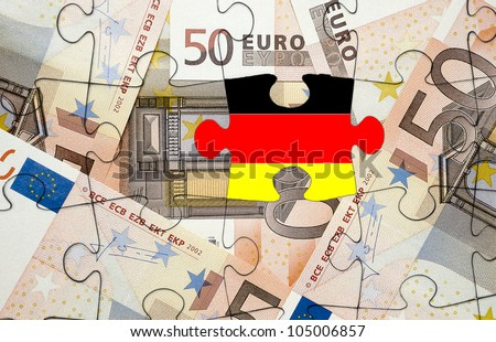 European financial crisis concept: Crisis in Germany - stock photo