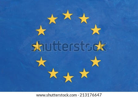 European flag made of plasticine (Child's Play Clay).  - stock photo
