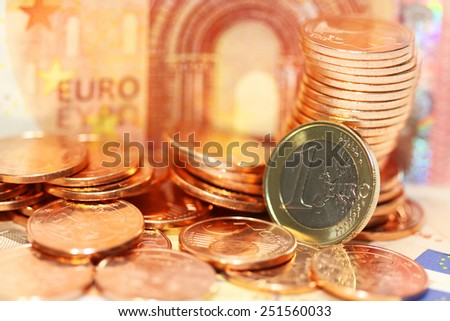 European money euros background - stock photo