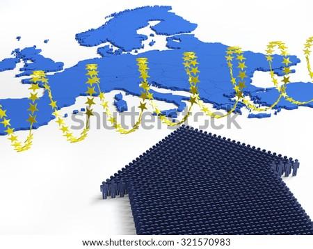 European refugee crisis - stock photo