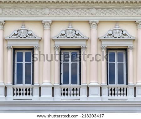 European style Balcony in the Grand Palace, Bangkok, Thailand.  - stock photo