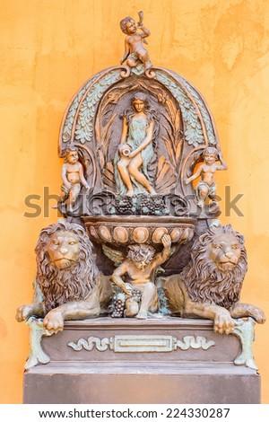 European style sculpture - stock photo