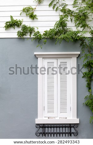 European style window - stock photo