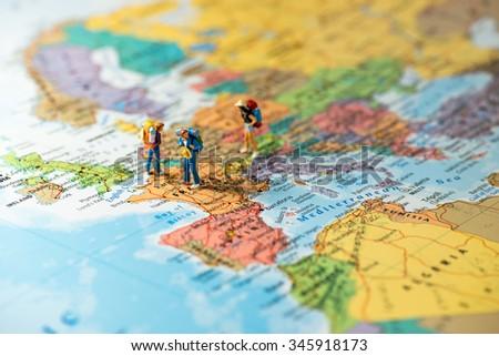 European tourism and travel concept. Macro photo - stock photo