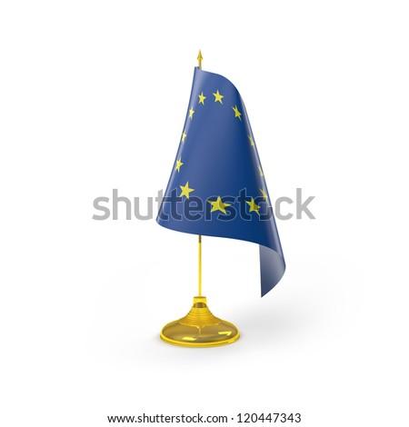 European Union Flag Detailed Render - stock photo