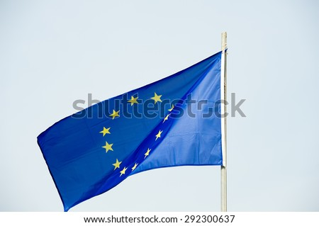 European Union flag - EU flag - stock photo
