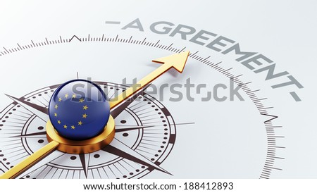 European Union High Resolution Agreement Concept - stock photo