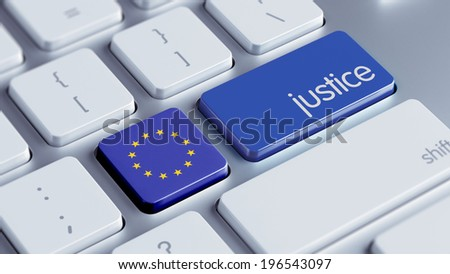 European Union High Resolution Justice Concept - stock photo