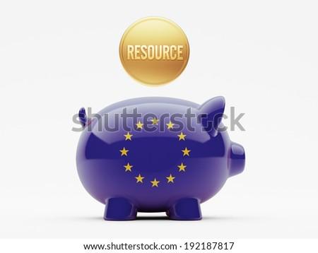 European Union High Resolution Resource Concept - stock photo