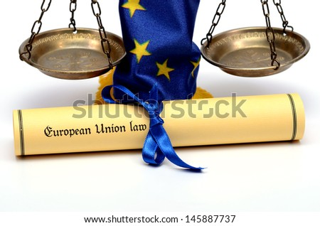 European Union Law - stock photo