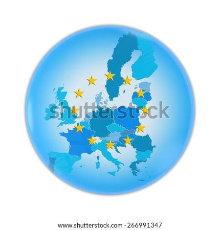 European Union map - stock photo