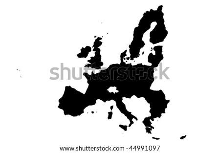 European Union - white background - stock photo
