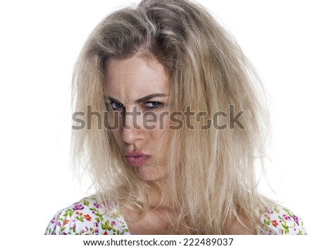 European woman expression - stock photo