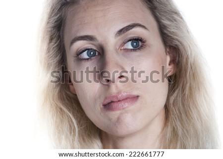 European woman face - stock photo