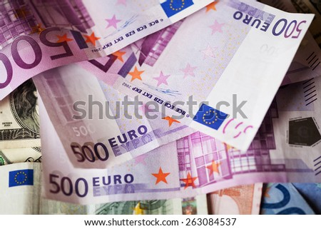 Euros - good background for business concept - stock photo