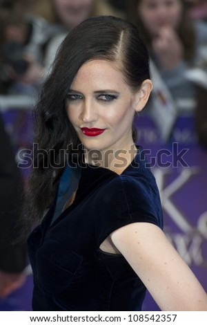Eva Green arriving for the European Premiere of 'Dark Shadows' at Empire Leicester Square, London. 09/05/2012 Picture by: Simon Burchell / Featureflash - stock photo