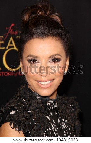 """Eva Longoria at the """"For Greater Glory"""" Los Angeles Premiere, AMPAS Theater, Beverly Hills, CA 05-31-12 - stock photo"""