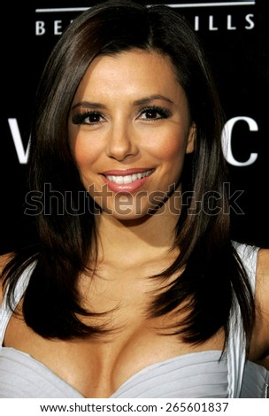 Eva Longoria attends the Rodeo Drive Walk Of Style Award honoring Gianni and Donatella Versace held at the Beverly Hills City Hall in Beverly Hills, California on February 8, 2007.  - stock photo