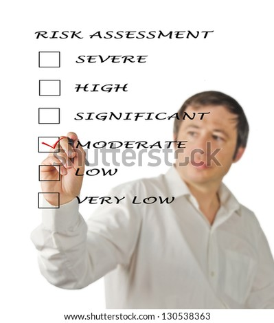 Evaluation of risk level - stock photo