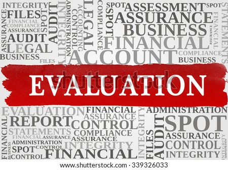 EVALUATION word cloud, business concept - stock photo