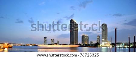 Evening bangkok. thailand - stock photo
