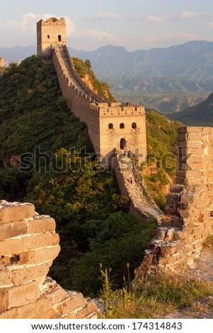 Evening Great Wall - China - stock photo