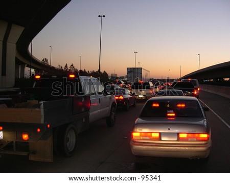Evening Rush Hour - stock photo