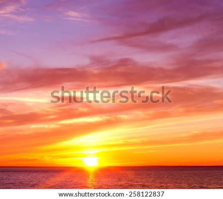 Evening Scene Idyllic Wallpaper  - stock photo