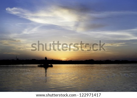 Evening sky - Sunset - stock photo