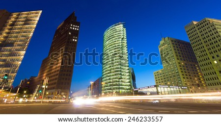 Evening view of Berlin, Germany  - stock photo