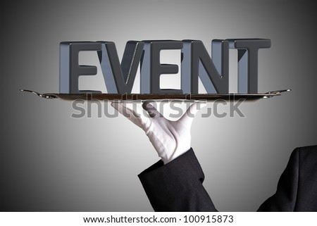 event on grey - stock photo
