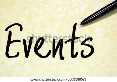 events word write on paper  - stock photo