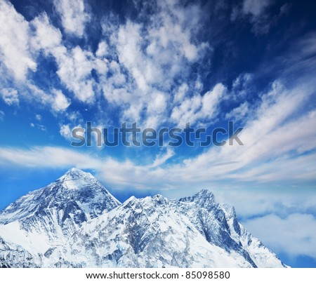 Everest mount - stock photo