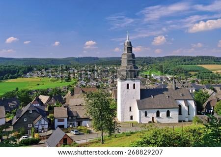 Eversberg church - stock photo