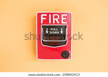 Every commercial building is required to have a fire alarm  - stock photo