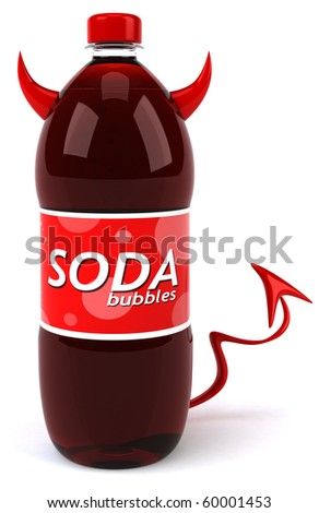 Evil soda - stock photo
