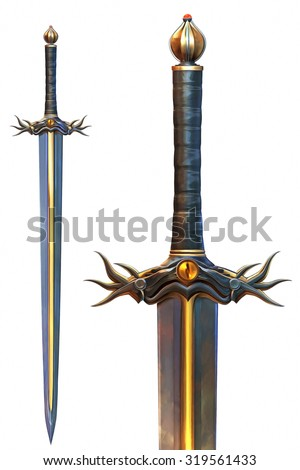 Evil Sword - stock photo