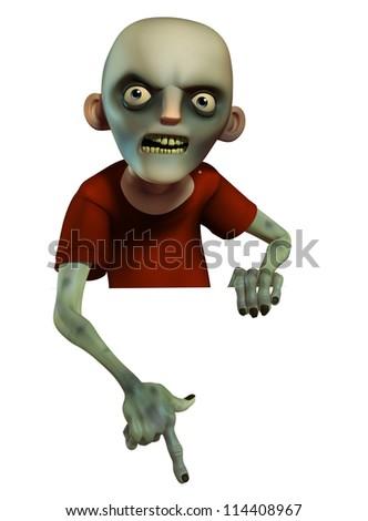 Evil zombie - stock photo