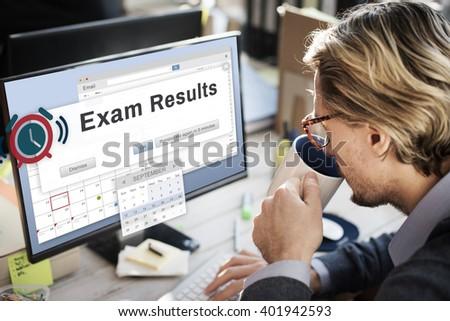 Exam Results Examination Grade Education Score Concept - stock photo