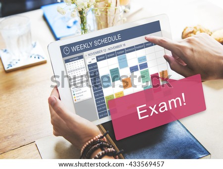 Exam Schedule Education Planning Remember Concept - stock photo