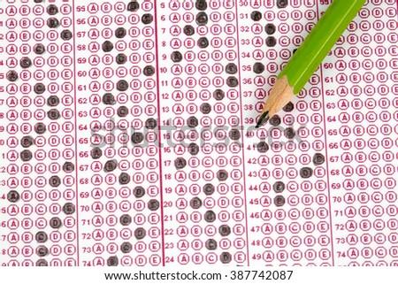 Exam Test - stock photo