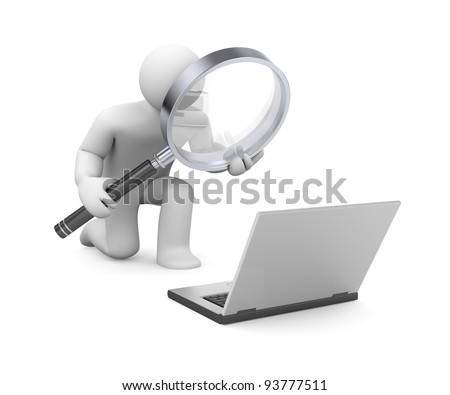 Examination of information. Image contain clipping path - stock photo